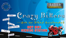 Crazy Bikers Zone Business Card